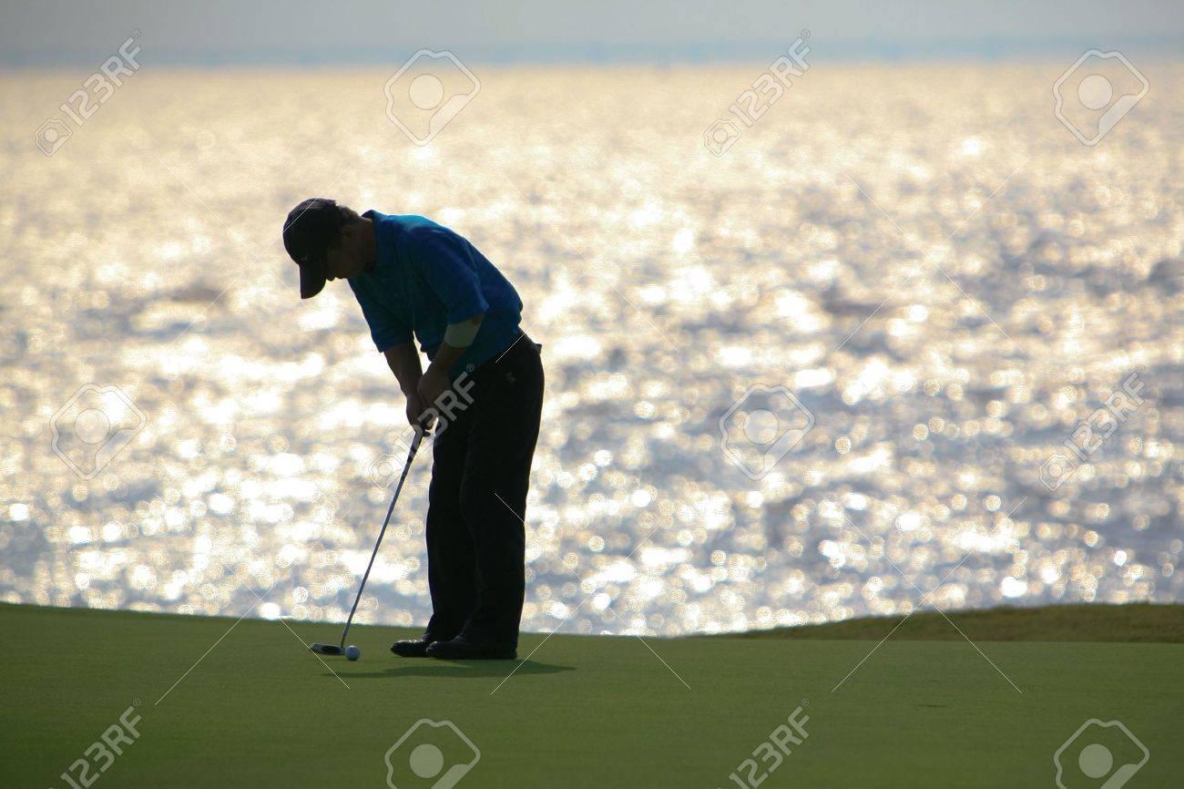 golfer strikes17 Stock Photo - 3922921