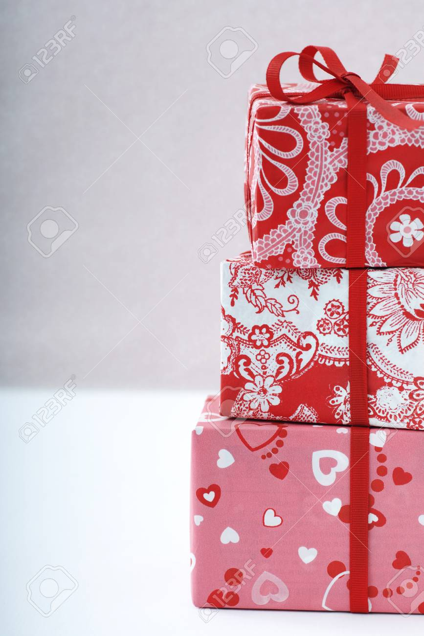 Stack of three gift wrapped presents stock photo picture and stack of three gift wrapped presents stock photo 89648948 negle Images