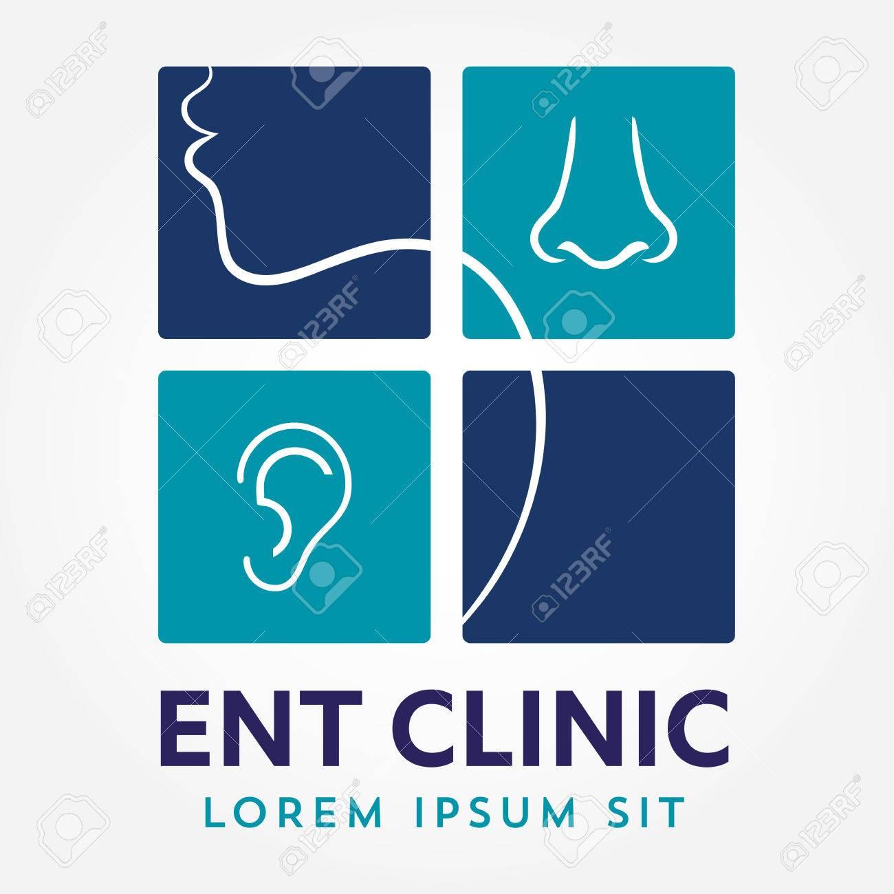 HNO-Logoschablone. Kopf Für Hals-, Nasen- Und Ohrenärzte. Logo ...