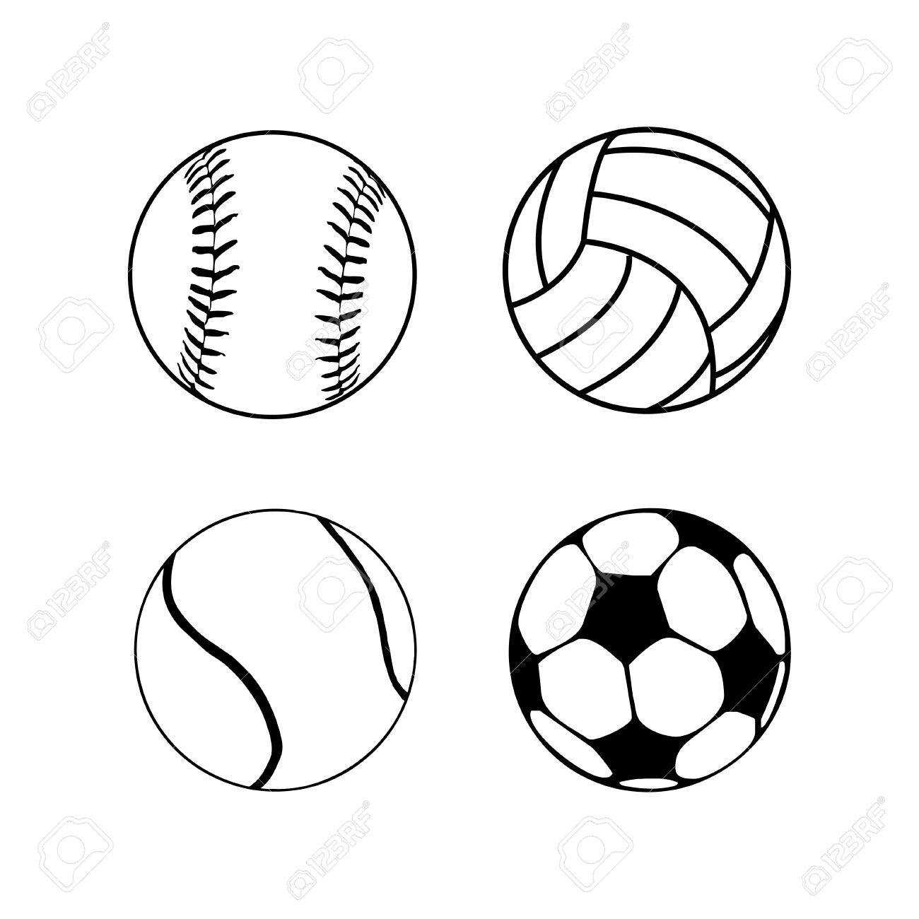 Collection Black And White Balls Royalty Free Cliparts Vectors And Stock Illustration Image 37593946