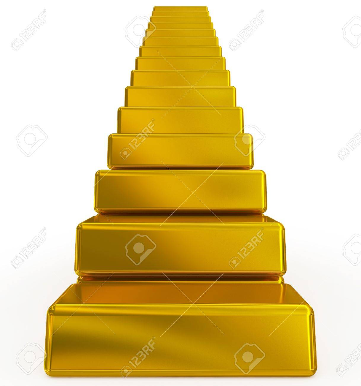 gold bars stairs - 17774923