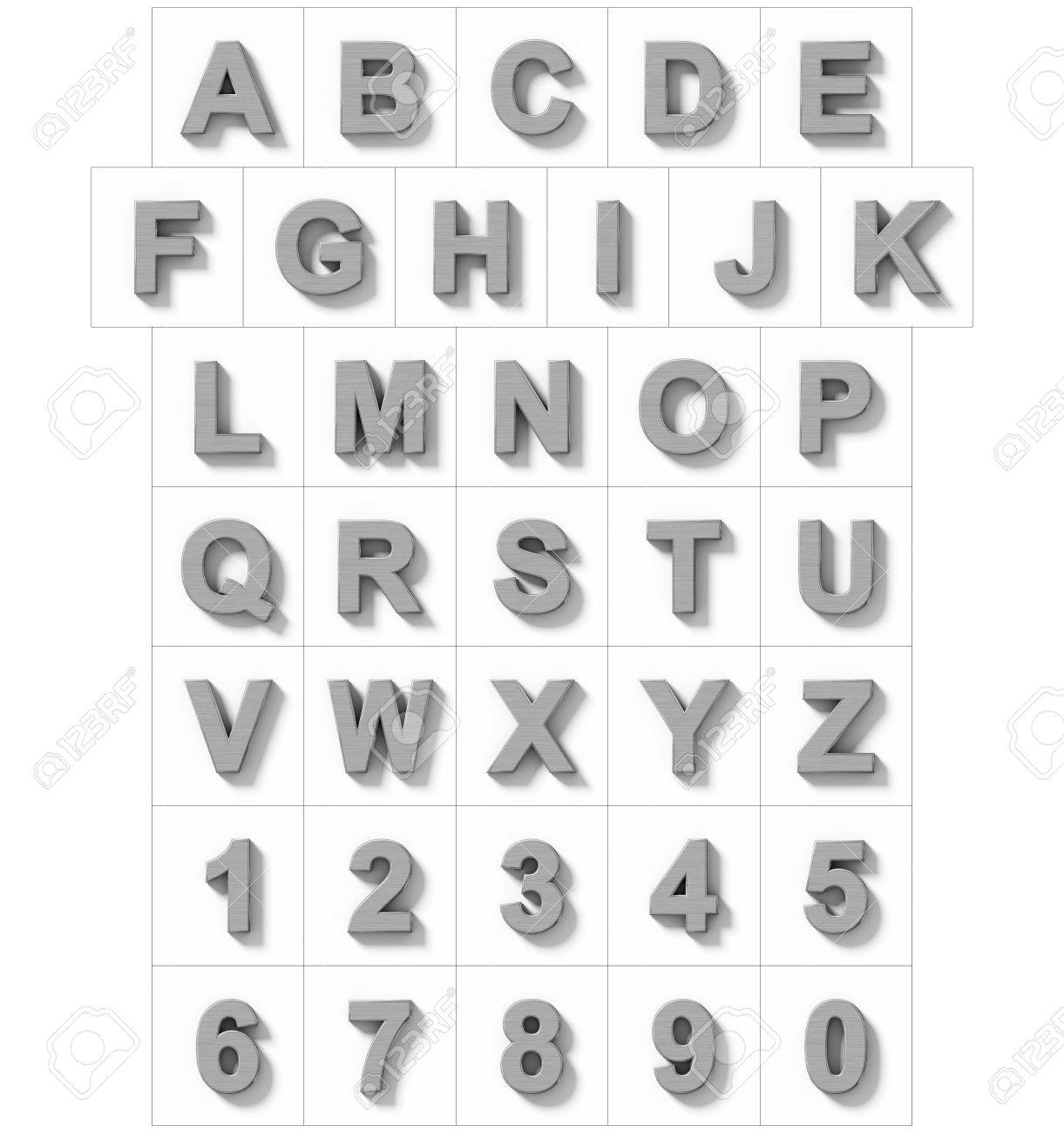 Welp Letters And Numbers 3D Metal Isolated On White With Shadow ZN-51