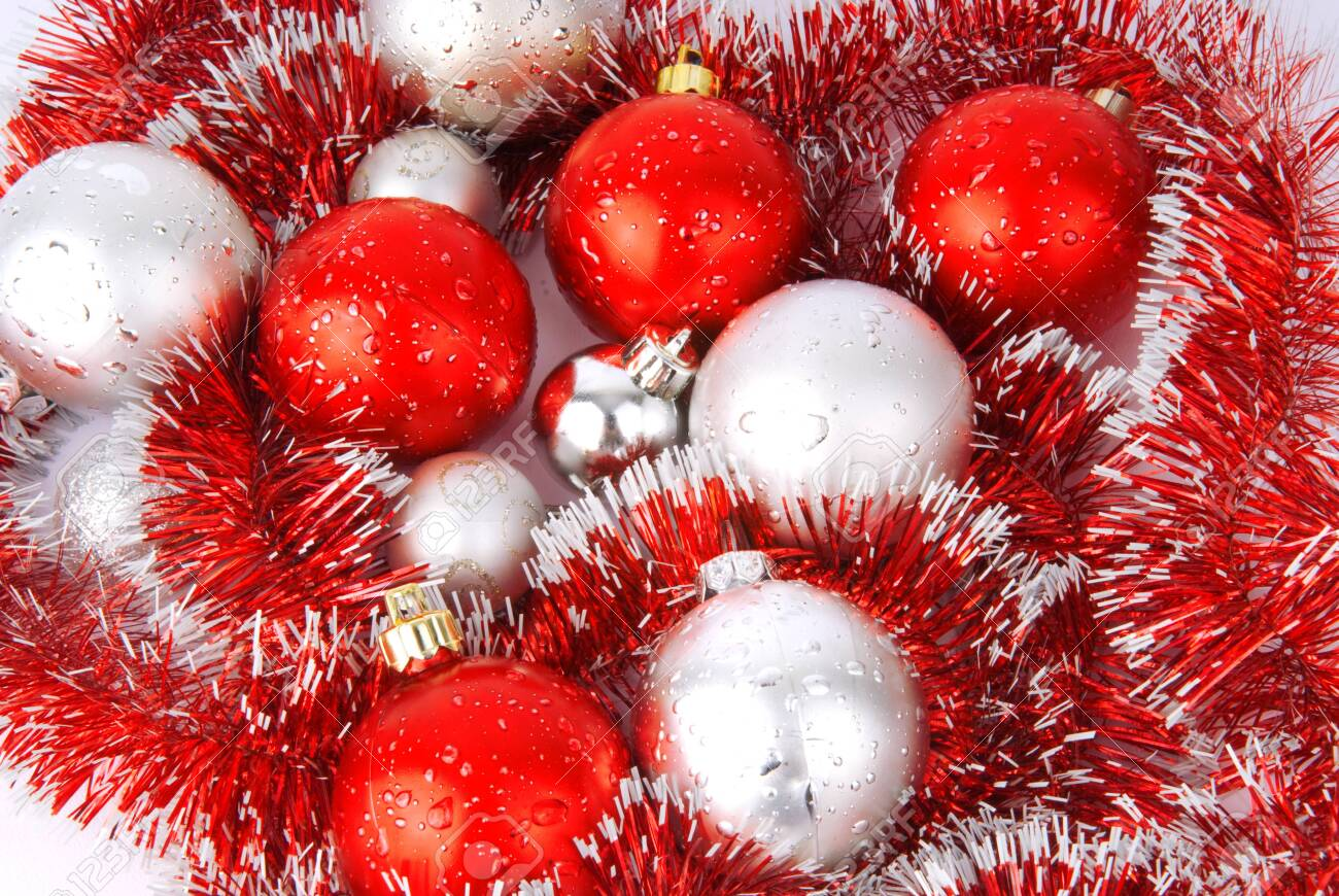 Red And Silver Balls For The Christmas Tree Stock Photo Picture And Royalty Free Image Image 144480770
