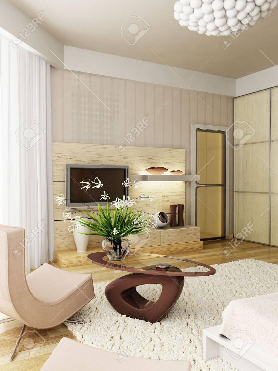 3d rendering of the modern bedroom Stock Photo - 850204