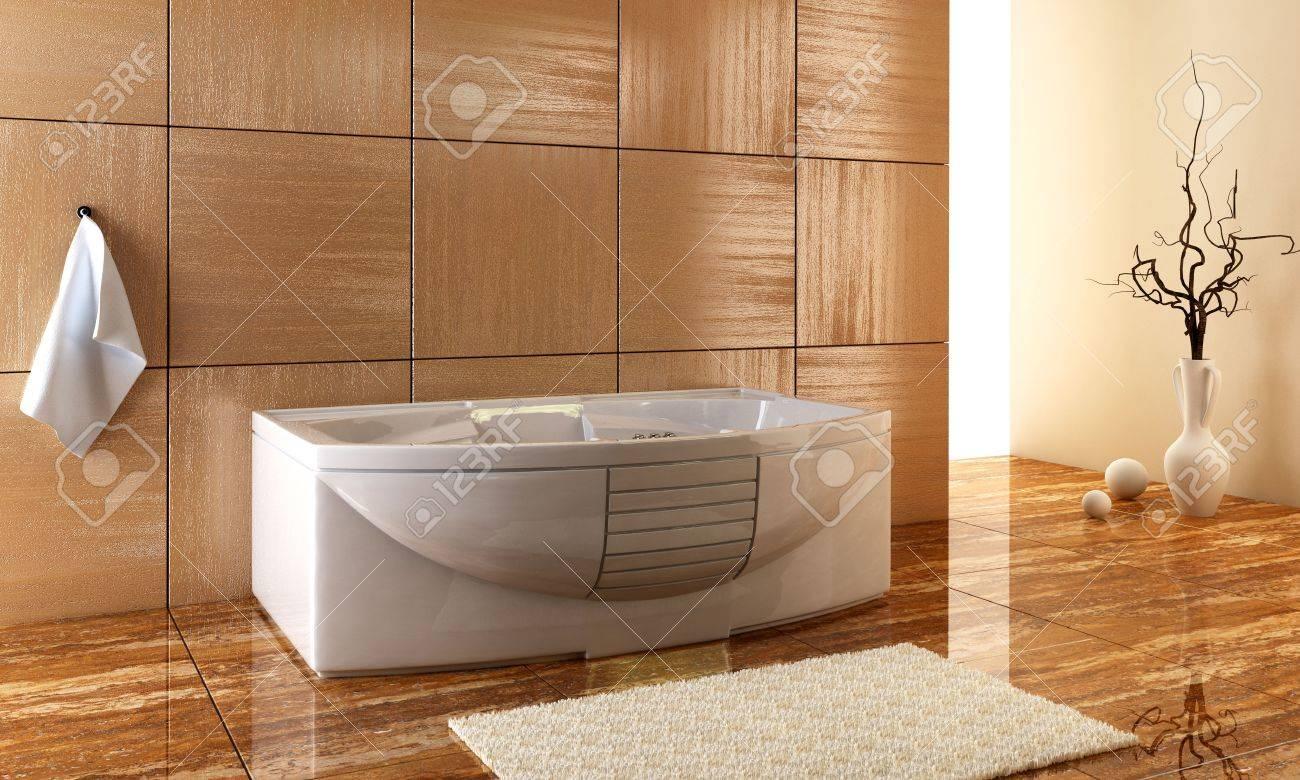 3d rendering of the stylish bathroom interior Stock Photo - 925144