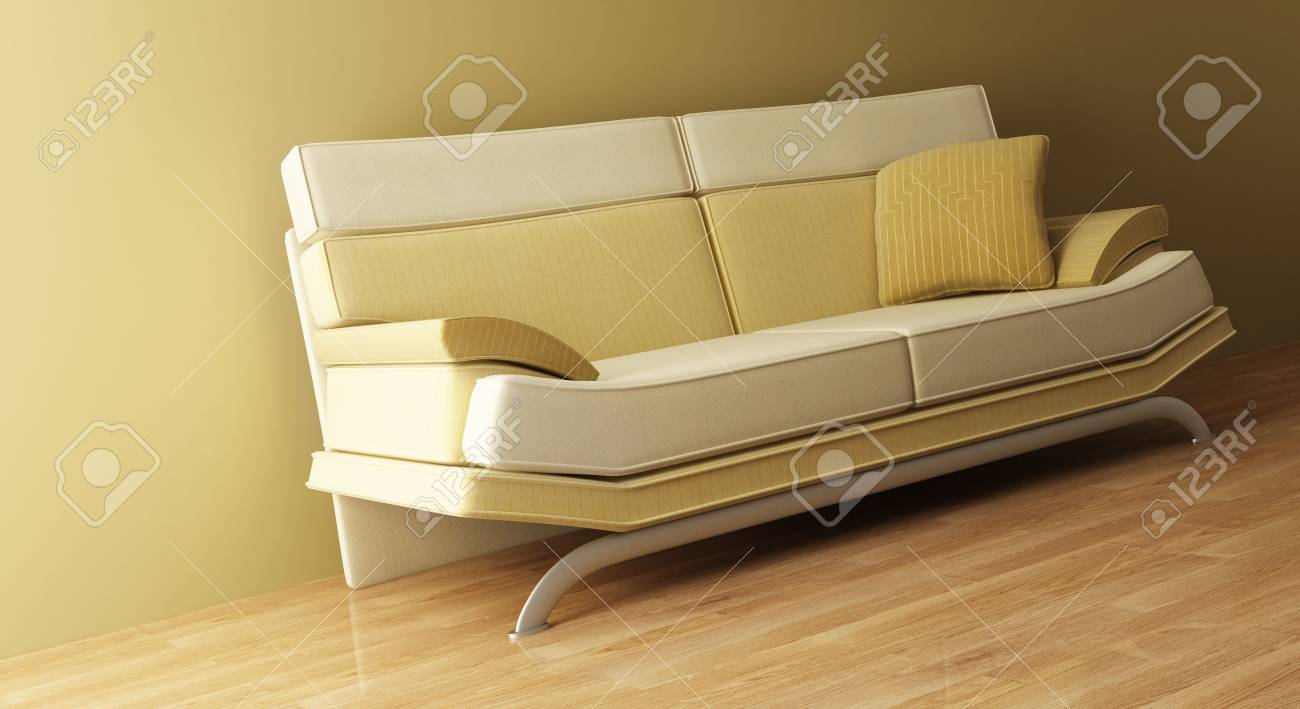3d interior with modern couch Stock Photo - 1289610