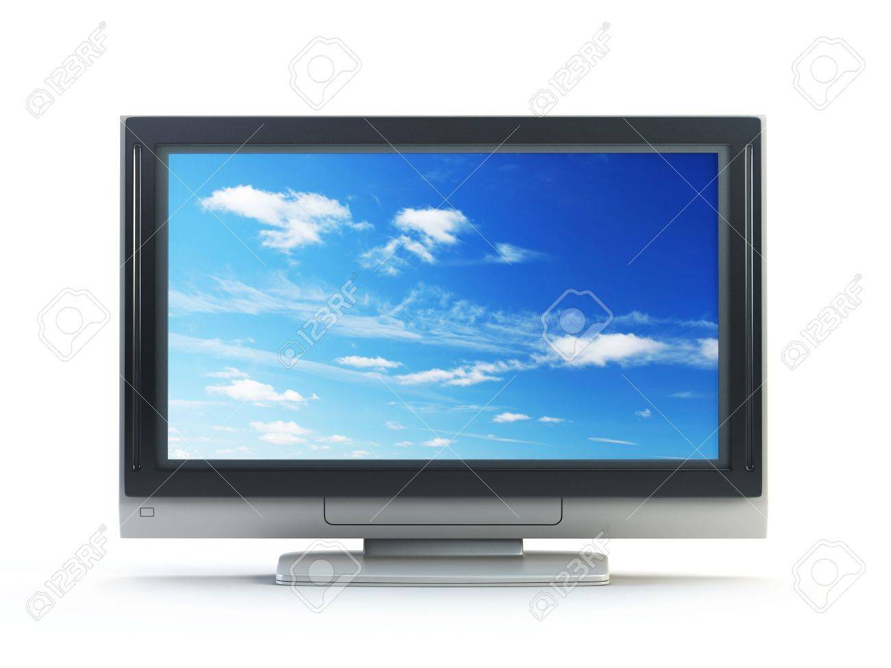 3d rendering plasma TV on white background Stock Photo - 2033661