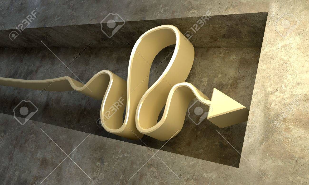 3d rendering of the arrow in the deadlock Stock Photo - 2256664