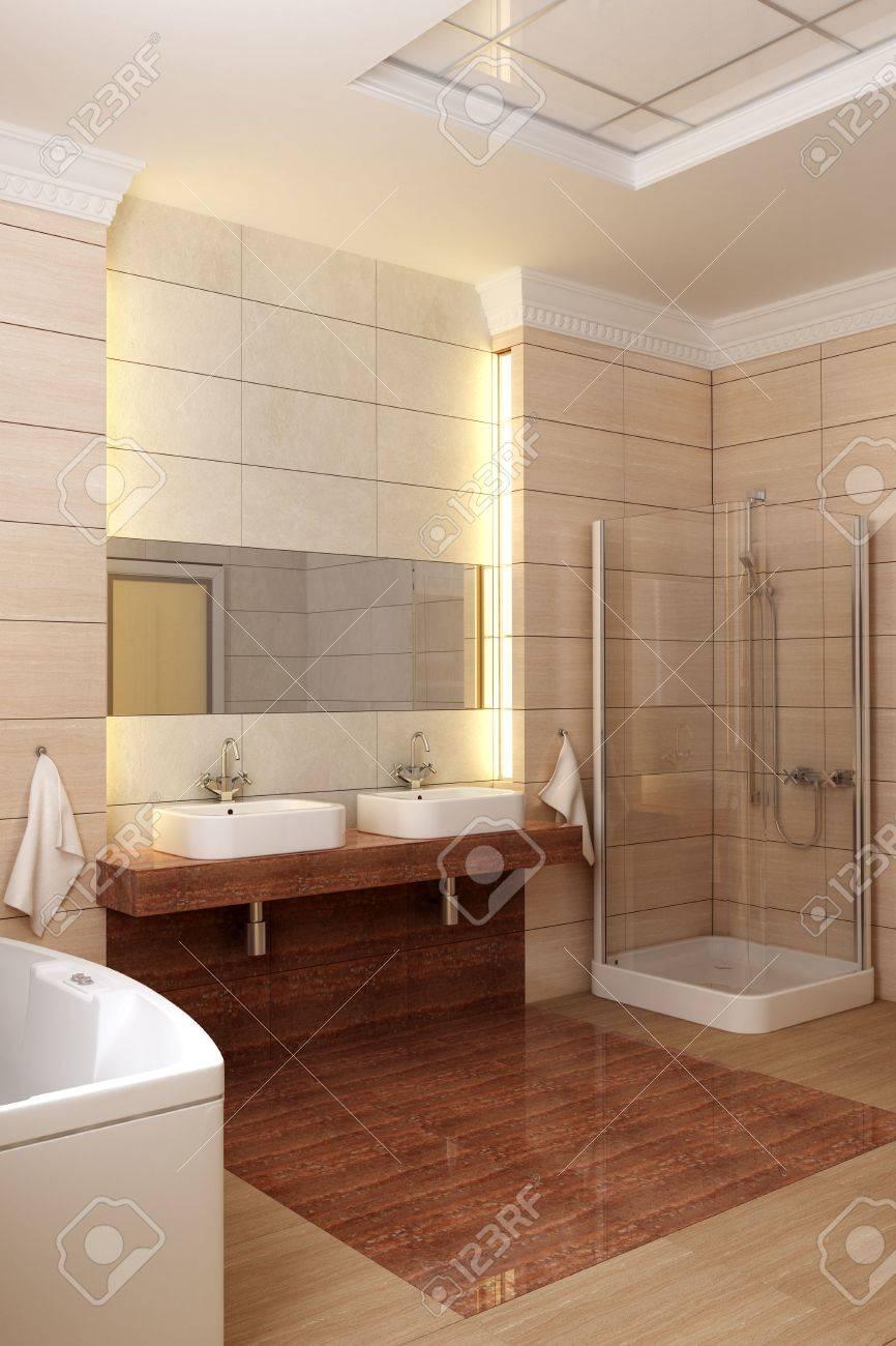 3d rendering of the modern bathroom Stock Photo - 2392488