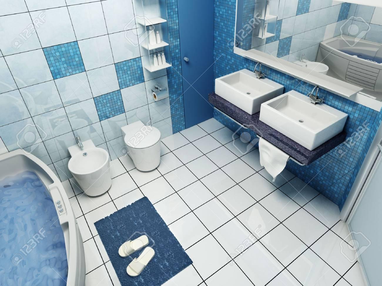 3d rendering of the modern bathroom Stock Photo - 2563949