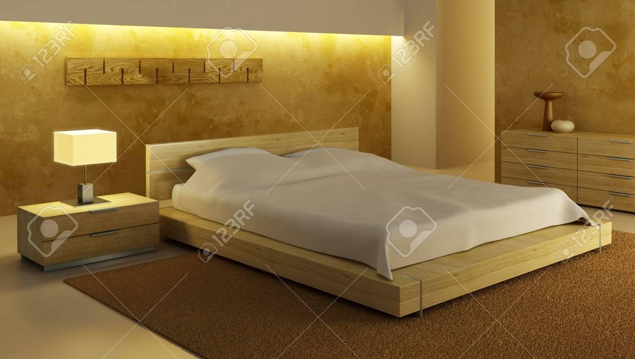 bedroom interior 3d rendering Stock Photo - 2645935