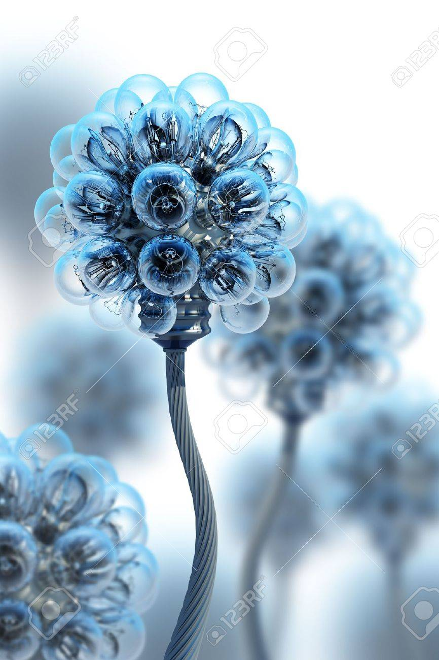 dandelion made from electric bulbs Stock Photo - 3141747