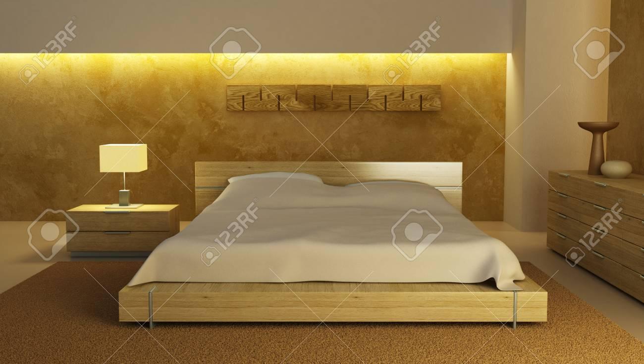 bedroom interior 3d rendering Stock Photo - 3358755