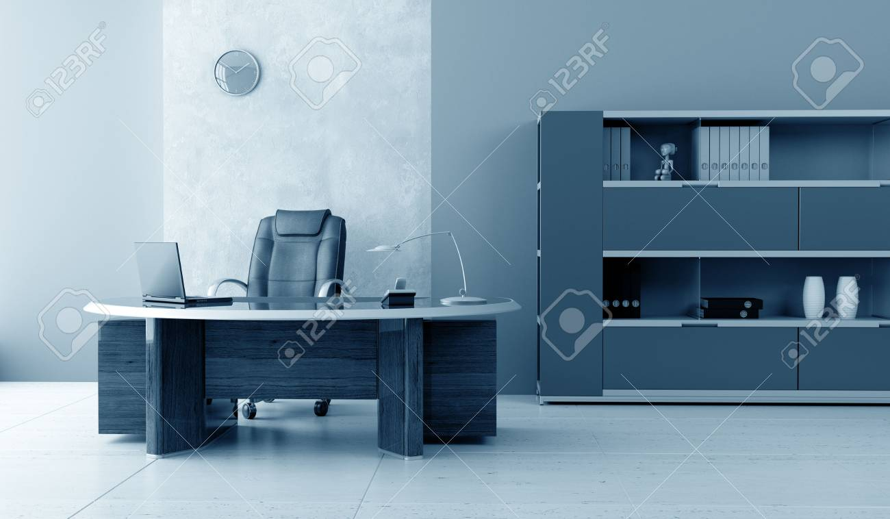 modern office interior 3d rendering Stock Photo - 3924798