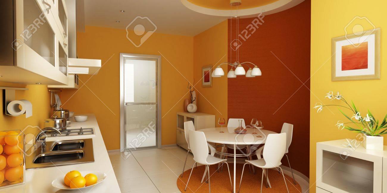 modern kitchen interior 3d rendering Stock Photo - 4296250