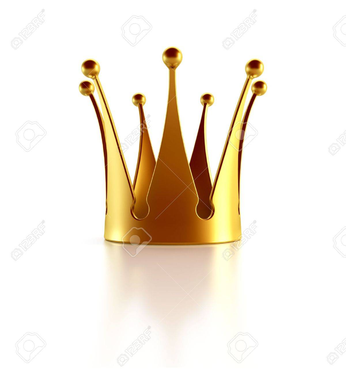 Isolated golden crown 3d rendering Stock Photo - 5511417
