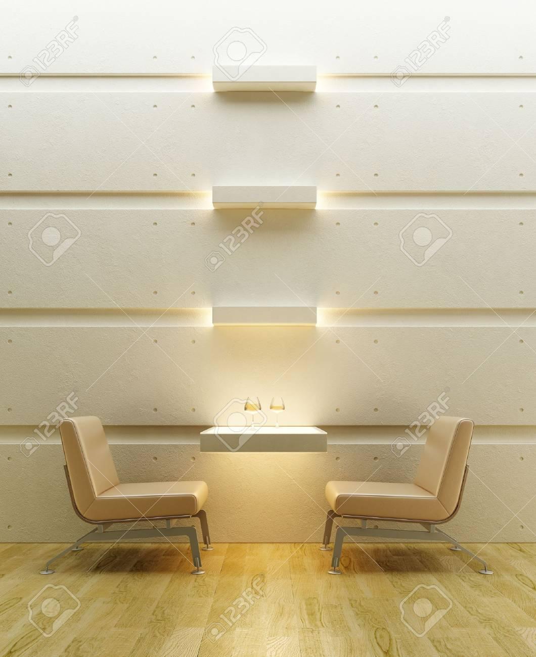 3d rendering interior lounge room Stock Photo - 5511432