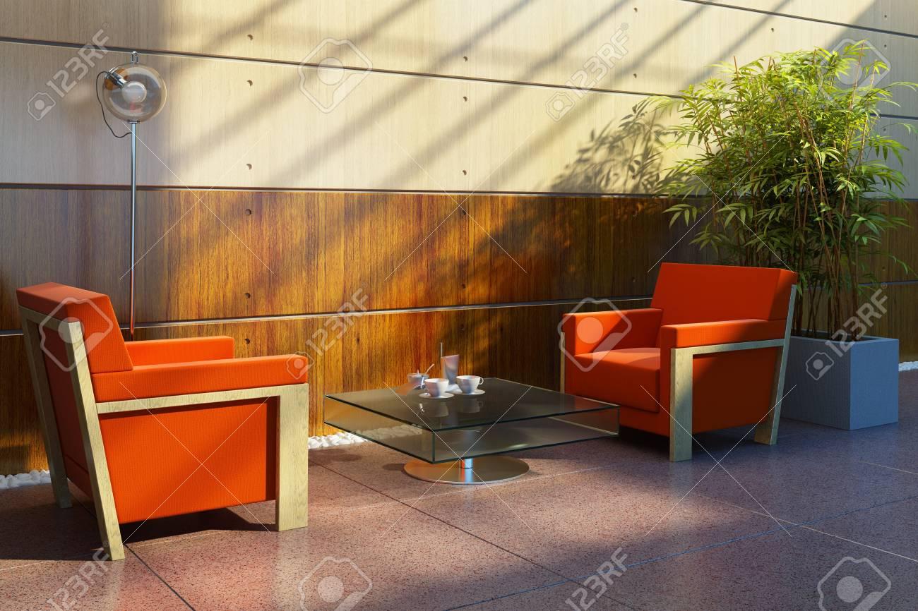 3d rendering interior lounge room Stock Photo - 5511431