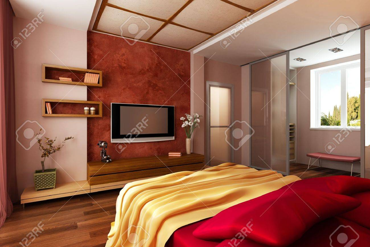 Modern Style Bedrooms Modern Style Bedroom Interior 3d Rendering Stock Photo Picture