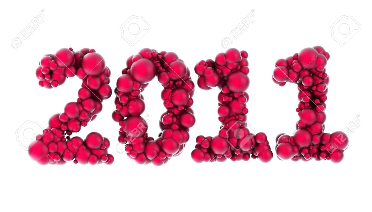 new year 2011, isolated render Stock Photo - 7924298
