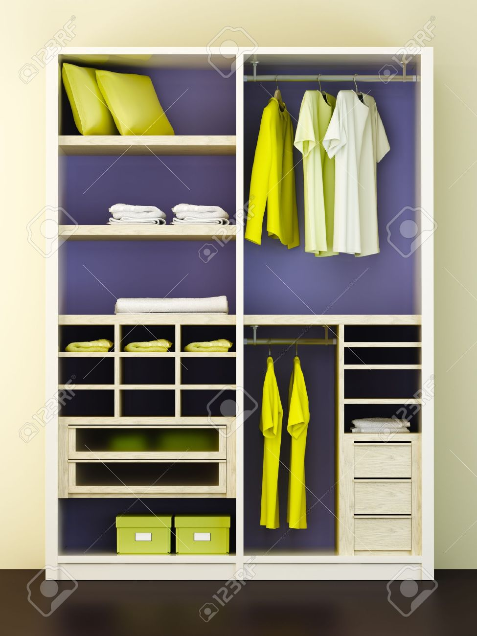 Modern Closet inside the modern closet 3d rendering stock photo, picture and