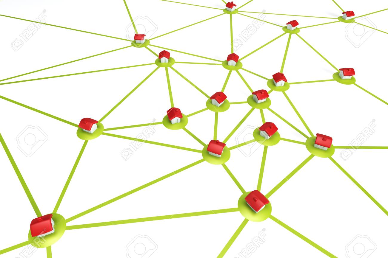 symbolic settlement network , isolated 3d render Stock Photo - 9124548