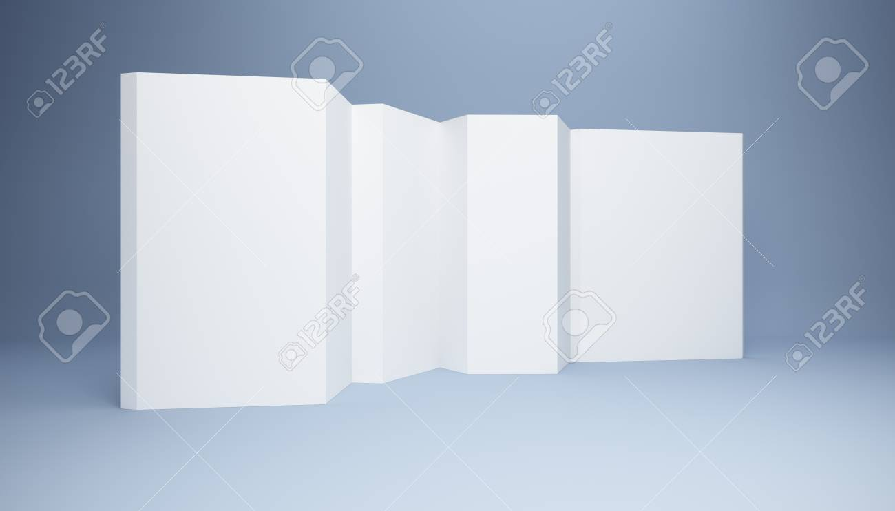 blank white banner, 3d render Stock Photo - 9243368