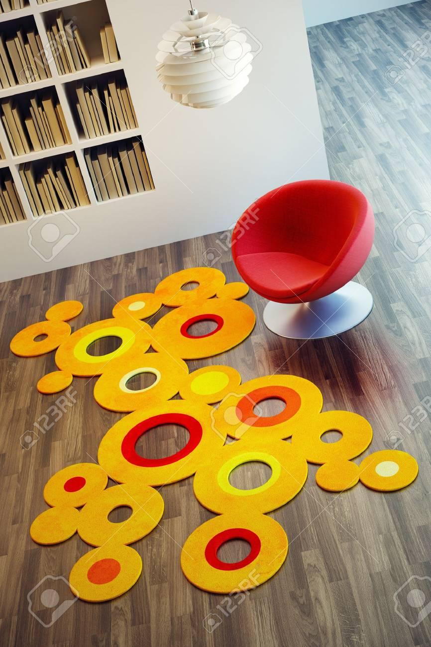 design of lounge room, 3d render Stock Photo - 9356684