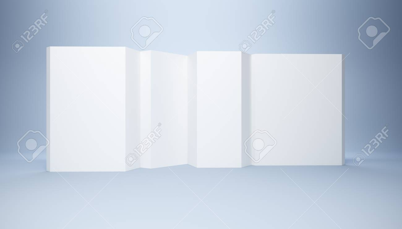 blank white banner, 3d render Stock Photo - 9956467
