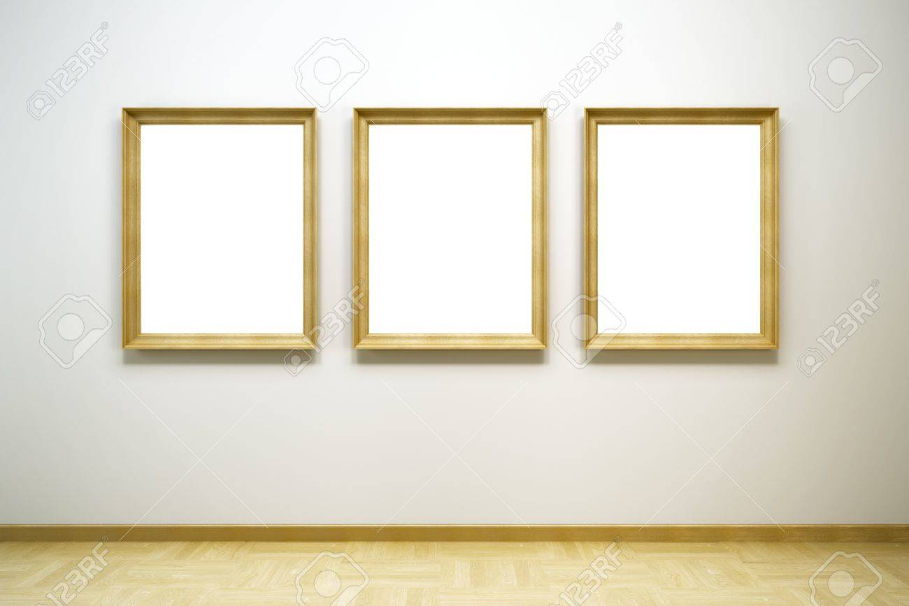 blank picture frames image collections  crafts and frames ideas - blank frames in the gallery d rendering stock photo picture and stockphoto blank frames in