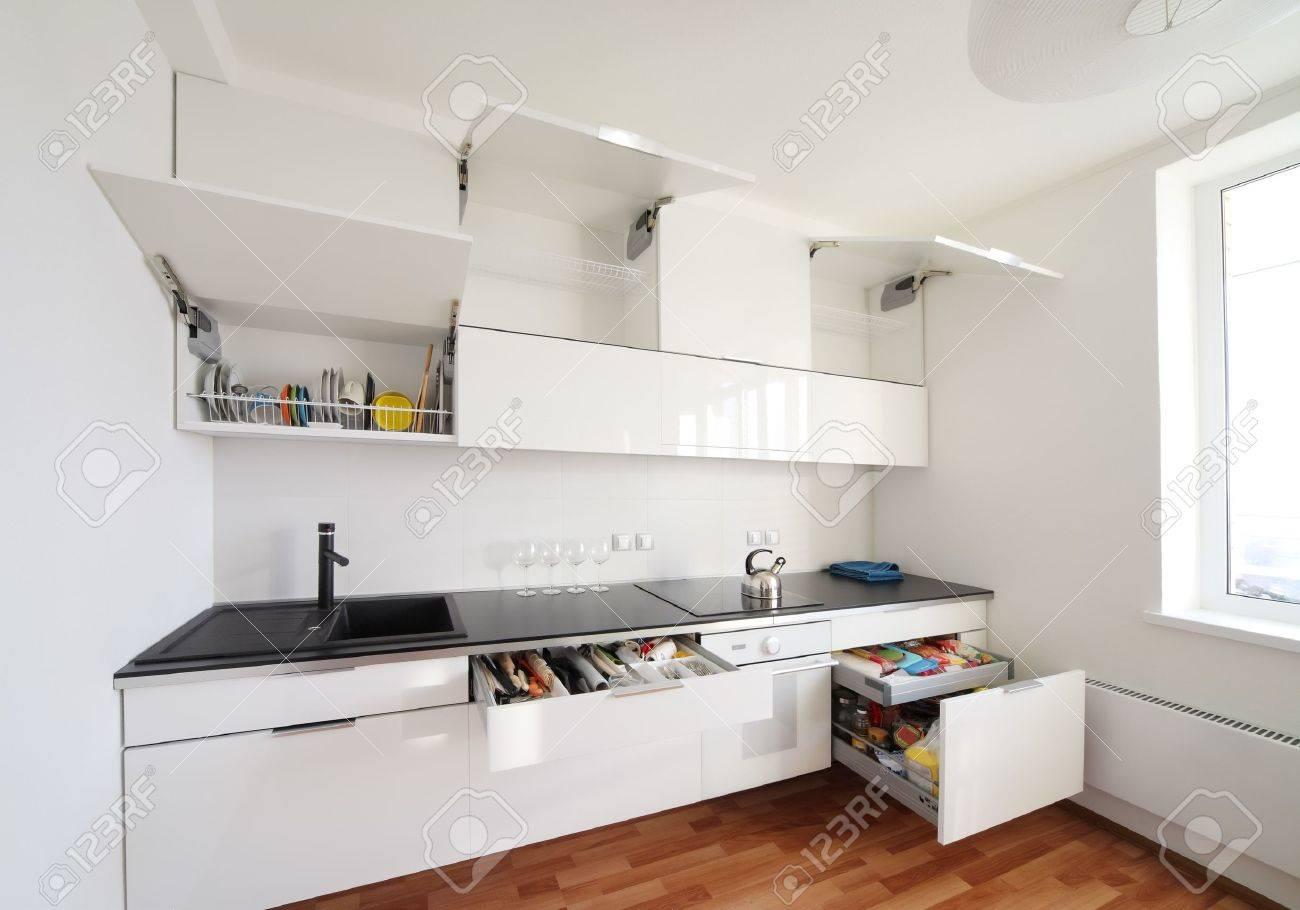 Intérieur de cuisine moderne dans un style minimaliste