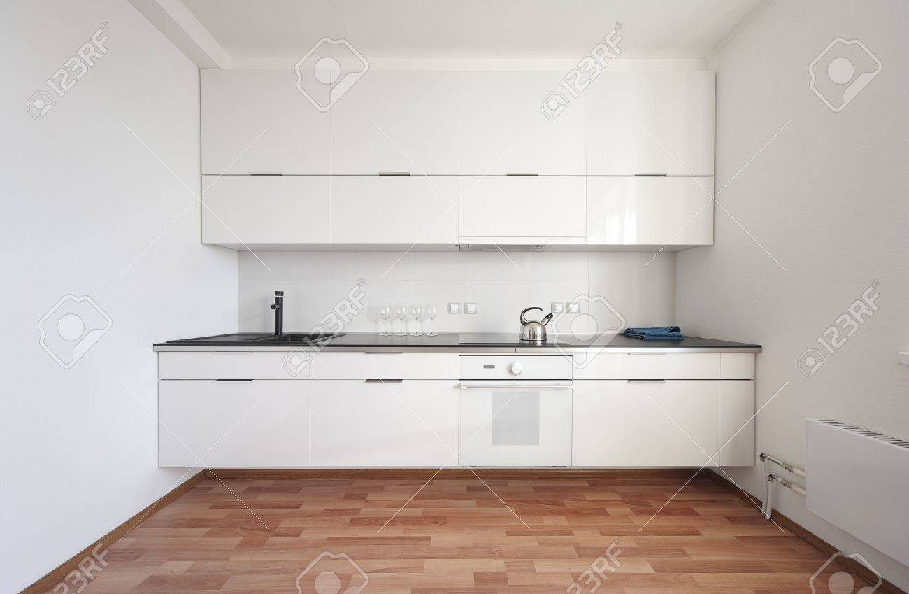 modern kitchen interior in minimalism style Stock Photo - 17166100