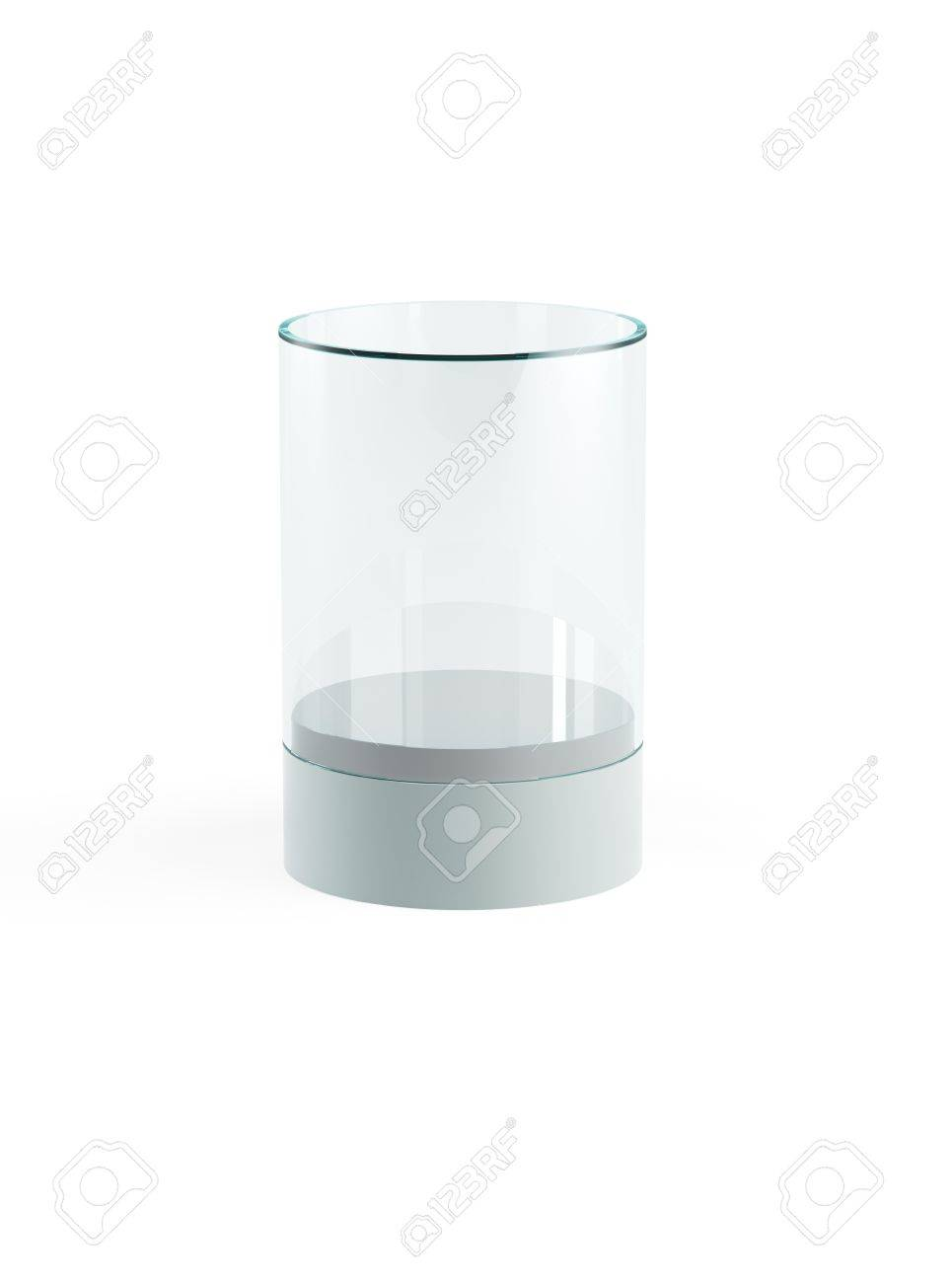 empty display case, isolated 3d render Stock Photo - 21816982