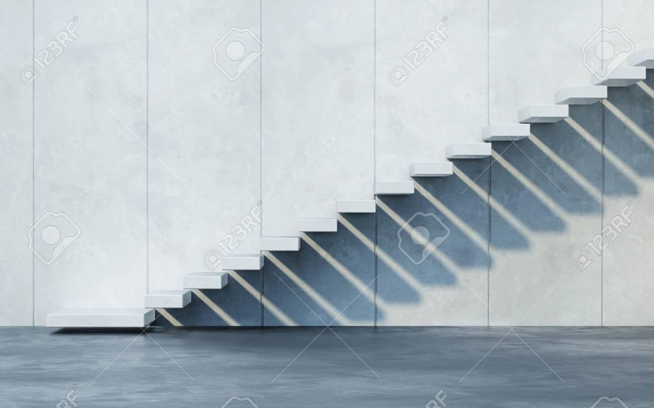 stairs leading upward, 3d rendering - 125327619