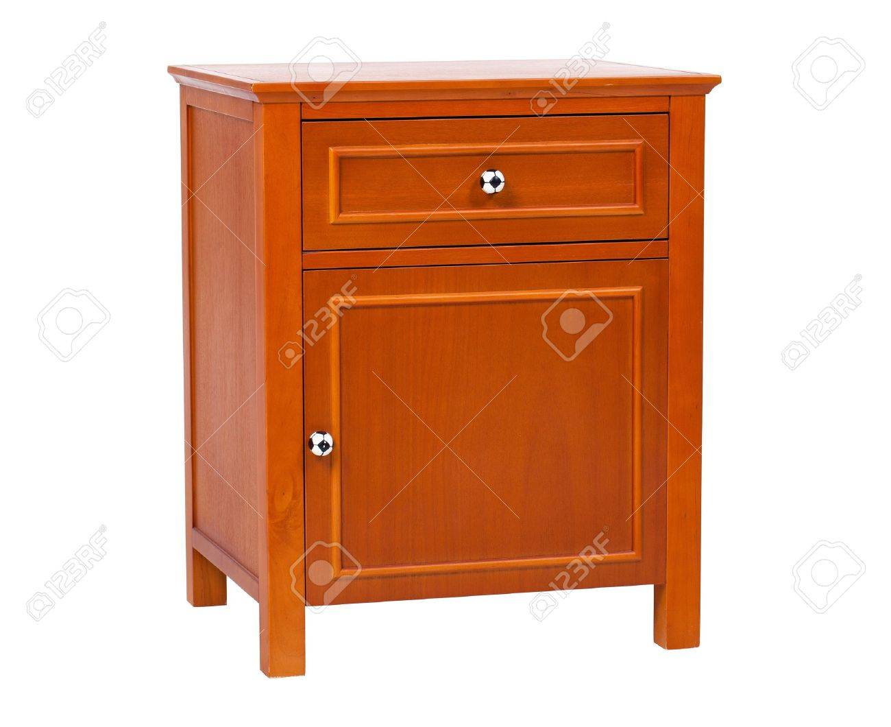 Children wooden nightstand, with clipping path Stock Photo - 12944730