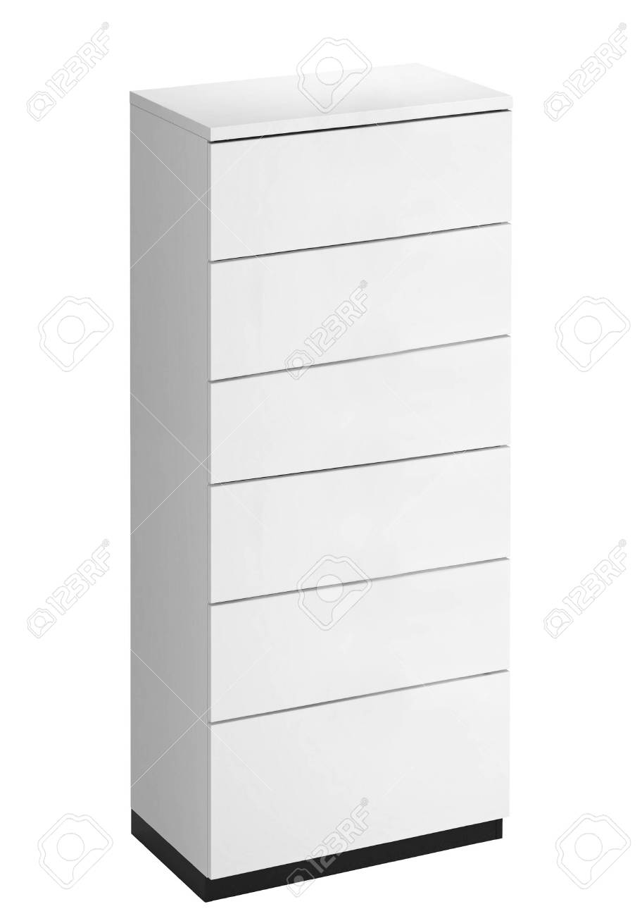 White Wooden Drawers Cabinet Stock Photo Picture And Royalty Free