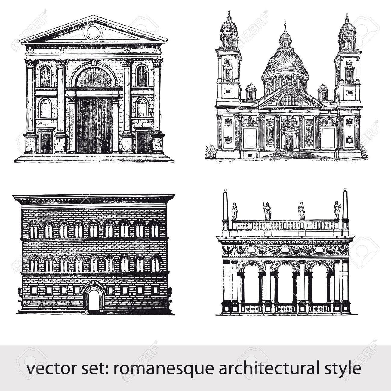 ロマネスク建築様式のイラスト素材・ベクタ - Image 10381028.