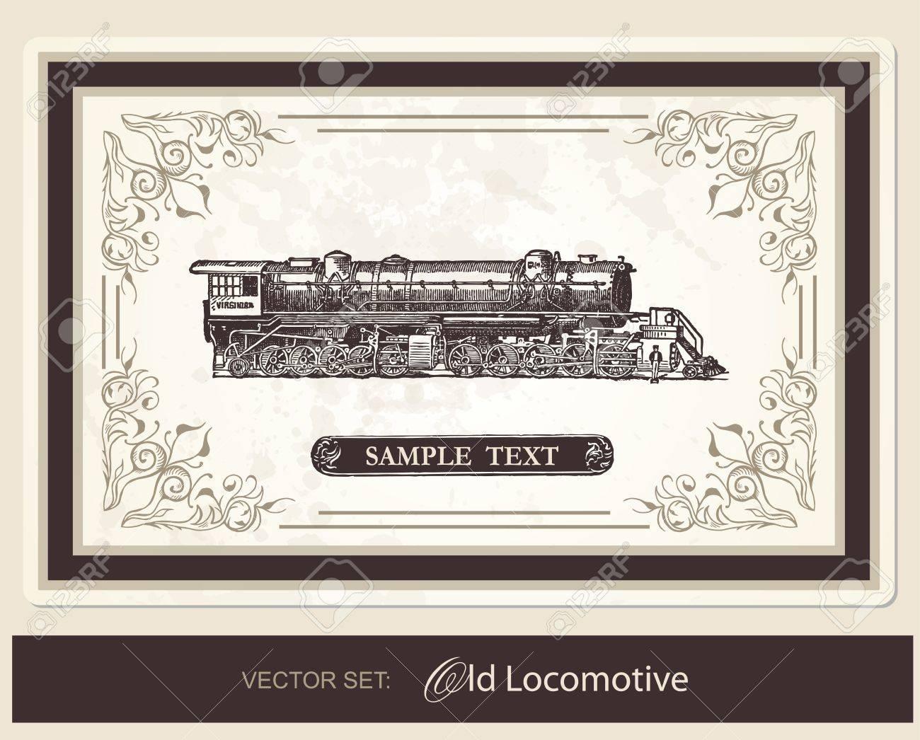 Historical Locomotive Stock Vector - 10421571