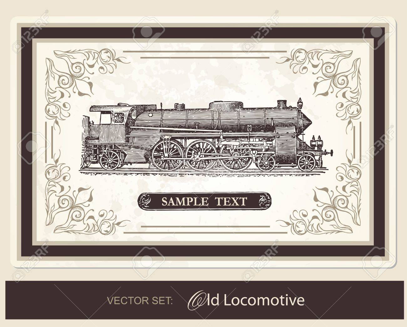 Historical Locomotive Stock Vector - 10421570