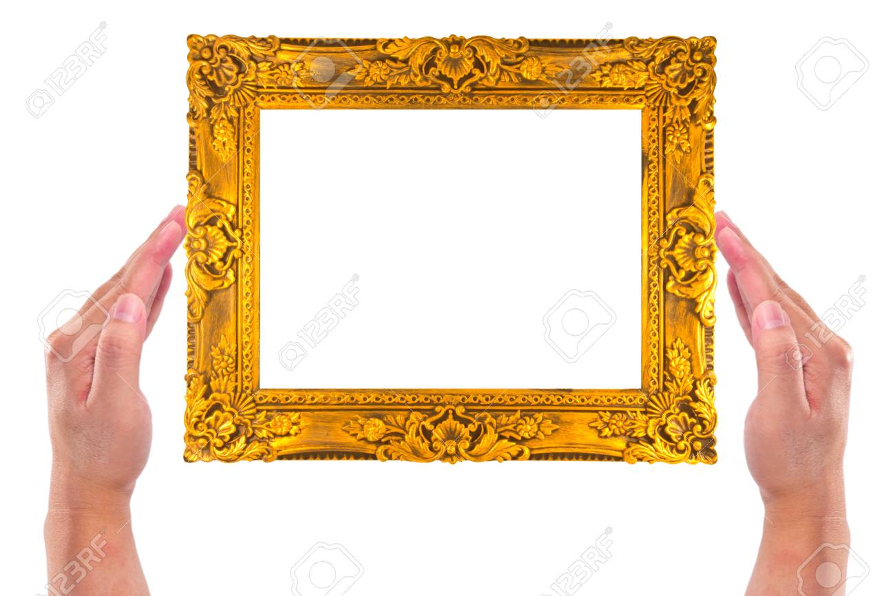 Frame in hands isolated on white background Stock Photo - 13031464