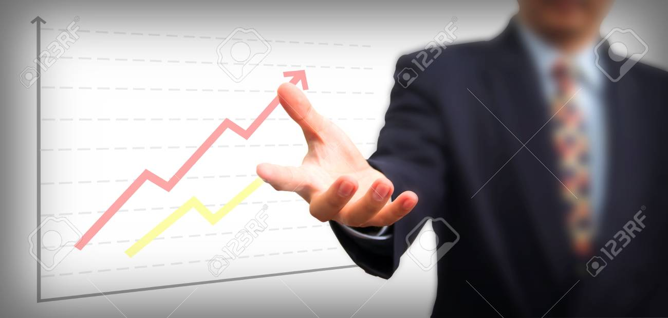 Businessman Holding on the whiteboard, Selective focus on the hand Stock Photo - 16332923