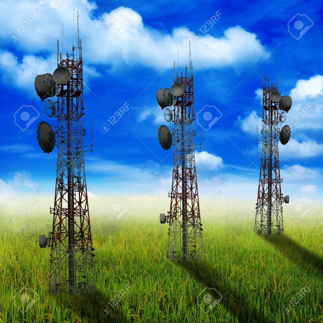 Shadow Phone Antenna On Nature Background Stock Photo Picture And Royalty Free Image Image 39268803