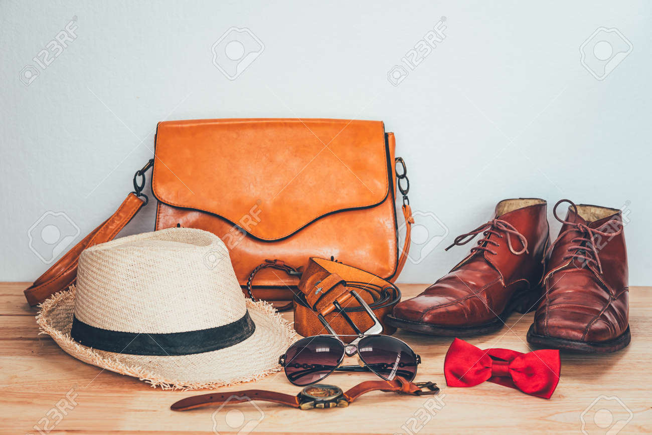 Clothing for Men on the wooden floor - 163301653