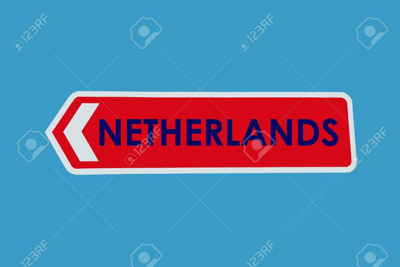 netherlands sign in its national colours stock photo picture and