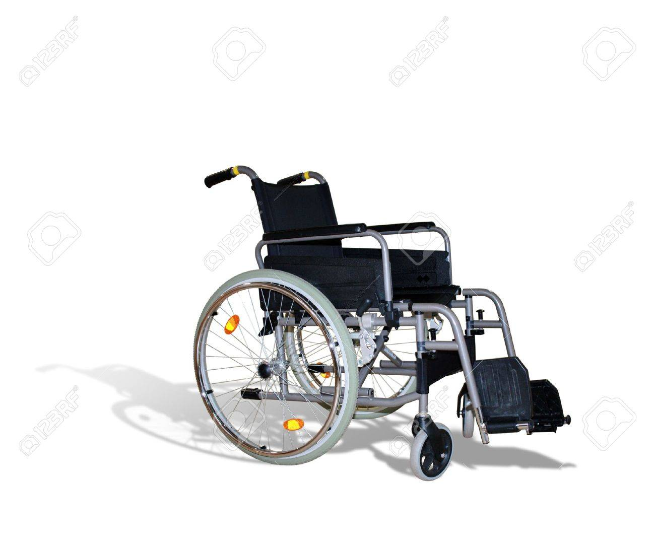 wheelchair for invalids on white Stock Photo - 8166713