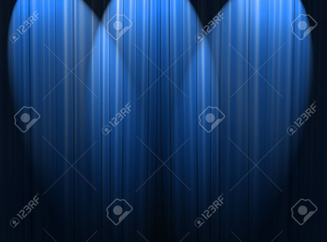 Blue curtain of a classical theater Stock Photo - 9220111