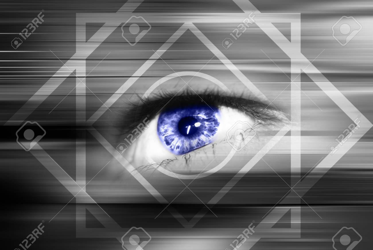 Digital eye in a future vision Stock Photo - 9364504