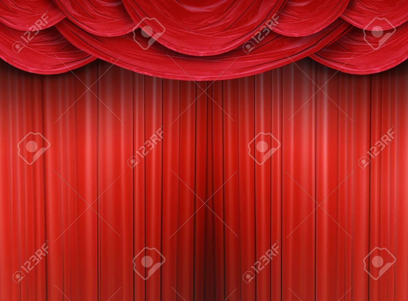 Red curtain of a classical theater Stock Photo - 9364639