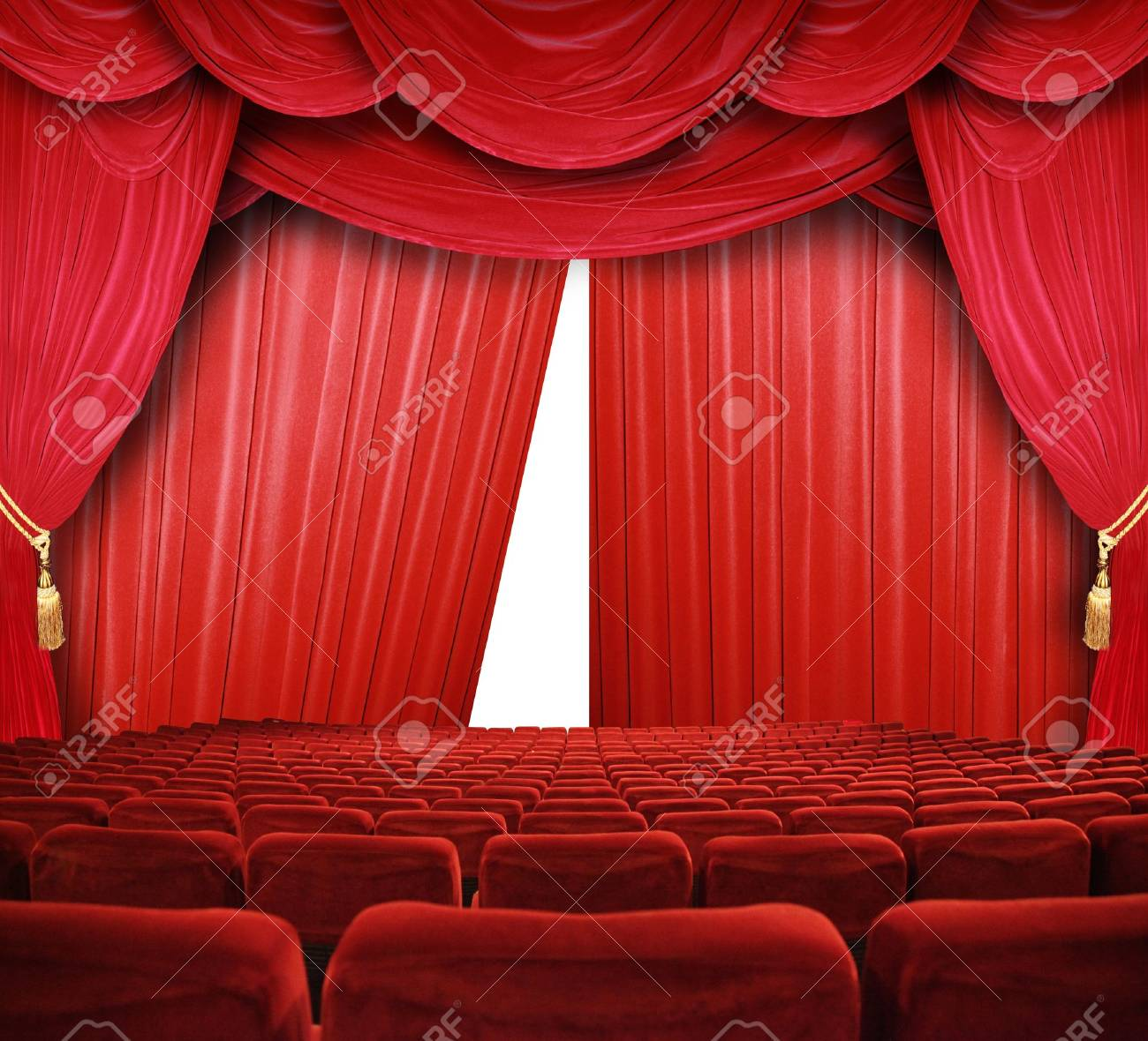 classic cinema with red seats Stock Photo - 9364709