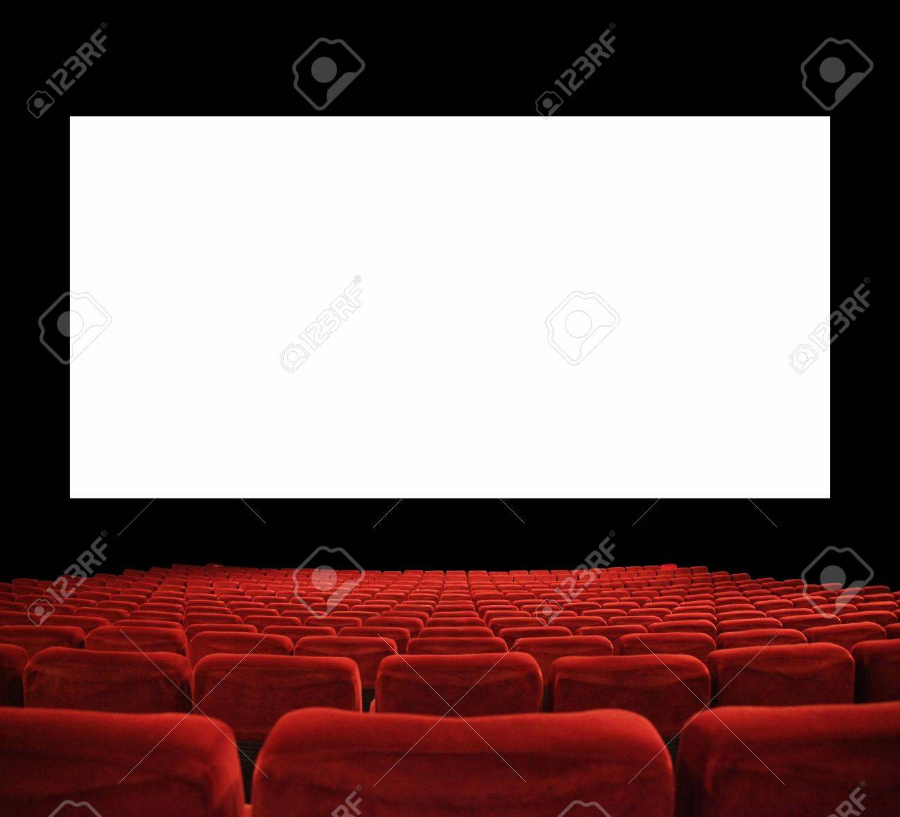 classic cinema with red seats Stock Photo - 12581384